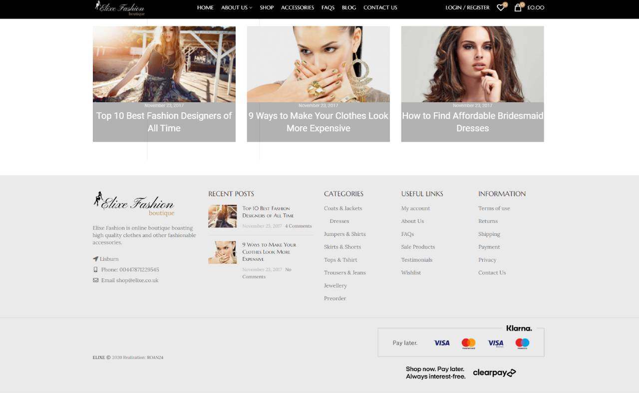 ROAN24 Elixe Fashion HOME Footer