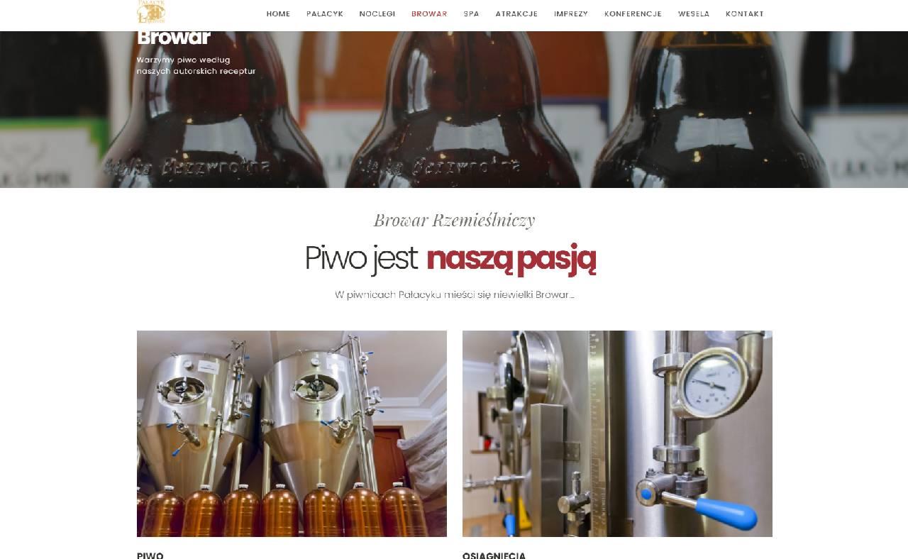 Site Web de la brasserie ROAN24 Palace Łąkomin